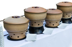 Thai clay pottery chafing dish heaters Royalty Free Stock Image