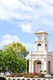 Thai clock tower. Thai style clock tower at Phuket, Thailand Stock Images