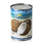 Thai Coco Coconut Milk isolated on white Royalty Free Stock Photo