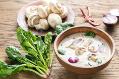 Thai coconut cream soup Stock Images