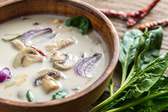 Thai coconut cream soup Stock Photo