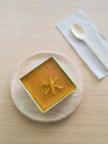Thai coconut custard squares, Khanom Maw Kaeng, Thai tradition dessert Stock Photography
