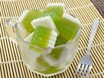 Thai coconut jelly Stock Image