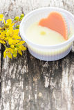 Thai coconut jelly. Stock Photo