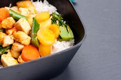 Thai coconut and mango curry Royalty Free Stock Photo