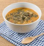Thai Coconut Milk Curry with Cassia Leaves and Pork Stock Image
