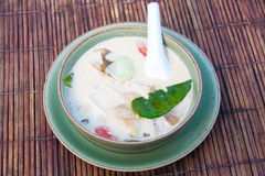 Thai coconut milk soup Royalty Free Stock Photo