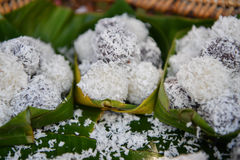 Thai Coconut muchkins, Thai traditional dessert. Stock Photography