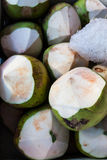 Thai coconuts. In the market Stock Photography