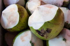 Thai coconuts. In the market Royalty Free Stock Photo