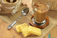 Thai Coffee and biscuit Stock Photography