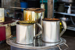 Thai coffee and tea maker on street Stock Images