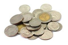 Thai coins (baht) Royalty Free Stock Image