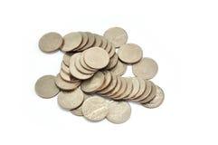 Thai coins baht Royalty Free Stock Photography