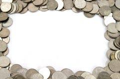 Thai Coins border Stock Image