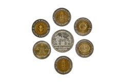 Thai coins on white blackground Stock Photos