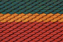Thai color ceramic roof pattern. Royalty Free Stock Images