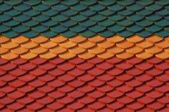 Thai color ceramic roof pattern. Thai multi color ceramic roof pattern in Thai temple Royalty Free Stock Images
