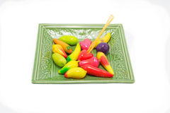 Thai colorful dessert Royalty Free Stock Photography