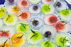 Thai colorful desserts Royalty Free Stock Photos