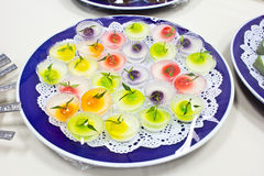 Thai colorful desserts Royalty Free Stock Image