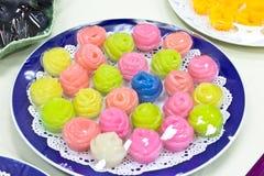 Thai colorful desserts Stock Photos