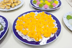 Thai colorful desserts Royalty Free Stock Photo