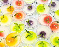 Thai colorful desserts Royalty Free Stock Photography
