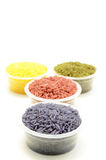 Thai colorful multi rice Royalty Free Stock Images