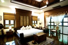 Thai contemporary bed room Royalty Free Stock Photography