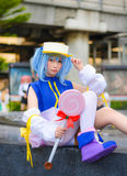 Thai cosplay idol dress as a character from Moetan posing Royalty Free Stock Photos