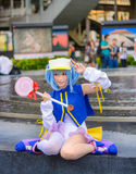 Thai cosplay idol dress as a character from Moetan posing Royalty Free Stock Images