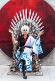Thai cosplayer dresses as Sakata Gintoki from Gintama in Oishi W Stock Photos