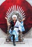 Thai cosplayer dresses as Sakata Gintoki from Gintama in Oishi W Stock Photos