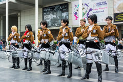 Thai cosplayer team from animation Royalty Free Stock Photo