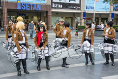 Thai cosplayer team from animation Stock Image