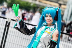 Thai cosplayers dress as the characters from cartoon and game Stock Images