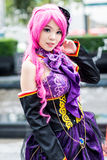 Thai cosplayers dress as the characters from cartoon and game Royalty Free Stock Image
