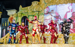 Thai cosplayers dress as the characters from Iron Man in Oishi World Cosplay Fantastic 7 Royalty Free Stock Photos