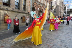 Thai costumes in Edinburgh Royalty Free Stock Photo