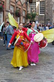 Thai costumes in Edinburgh Stock Photo