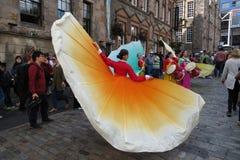 Thai costumes in Edinburgh Stock Photos