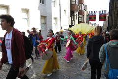Thai costumes in Edinburgh Stock Photography