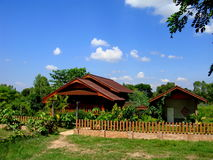 THAI COUNTRY HOUSE IN COUNTRYSIDE Stock Photography