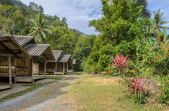Thai countryside hut with the garden Royalty Free Stock Image