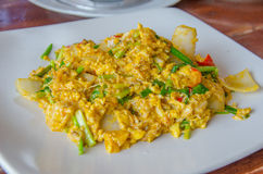 Thai Crab curry. Crab Curry in thai style food on the dish Royalty Free Stock Photo