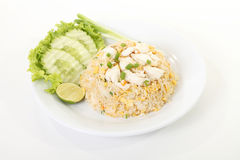Thai crab fried rice Royalty Free Stock Photos