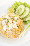 Thai crab fried rice Stock Image