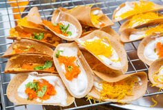 Thai crispy crepe Stock Photos