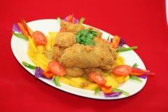 Thai Crispy Duck. With mango Stock Photo
